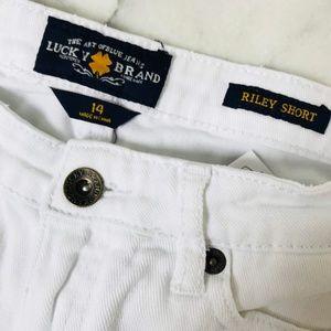 NWOT Lucky Brand Girls Riley Shorts